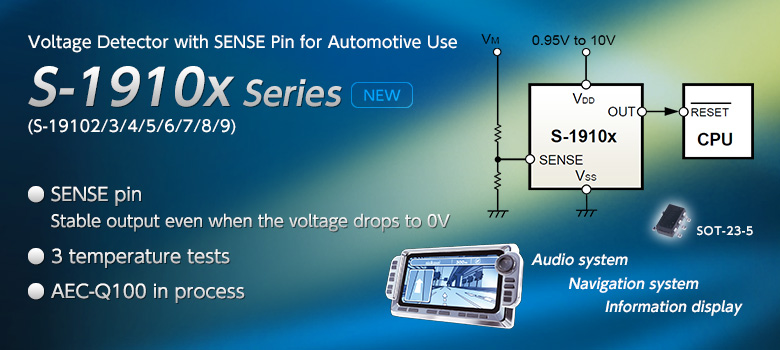 Voltage Detector with SENSE Pin for Automotive Use