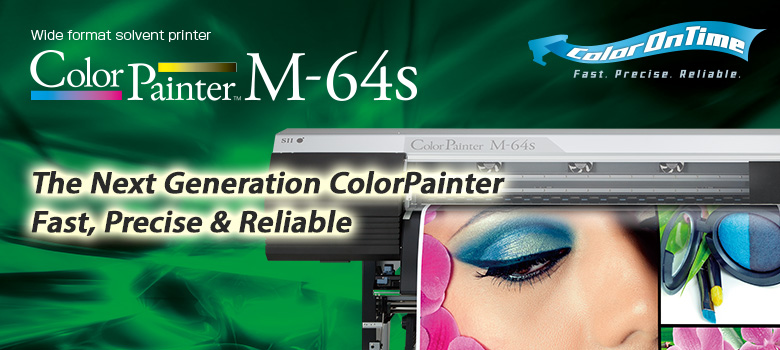Wide format solvent printer ColorPainter M-64s