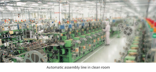 Automatic assembly line in clean room