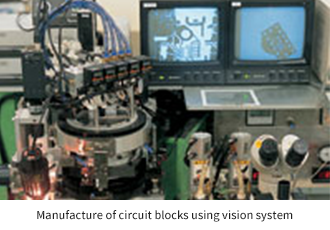 Manufacture of circuit blocks using vision system
