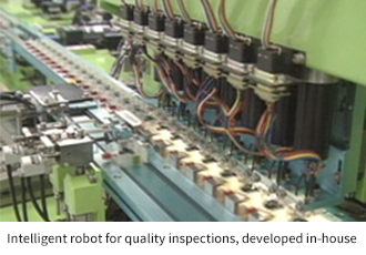 Intelligent robot for quality inspections, developed in-house