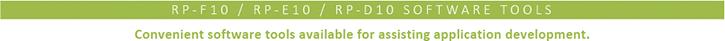 RP-E10 / RP-D10 Software tools